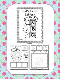 Let's Learn Letters book from TpT seller MOM printables--Freebie