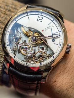 """Greubel Forsey Double Balancier À Différentiel Constant Watch Hands-On - on aBlogtoWatch """"Cliché alert: sometimes you have to break some rules to be able to achieve what you want. The Greubel Forsey Double Balancier à Différentiel Constant does just that, as it sacrifices some basic principles – like good legibility between, well, 4 and 10 o'clock – in favor of highlighting some mind-bogglingly complicated and eye-wateringly beautiful mechanical feats. Here's the how and the why..."""""""