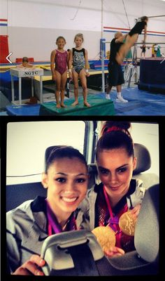 Ryan Seacrest's photo: From mats to medals, the awesome image that defines the olympic journey for Mckayla Maroney & Kyla Ross London Olympic Games, Olympic Games Sports, Olympic Team, Gymnastics Training, Sport Gymnastics, Olympic Gymnastics, Fierce 5, Michael Phelps Olympics, Swimmer Girl Problems