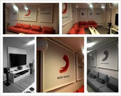 Music room, acoustic and decorative panels, design by D&A