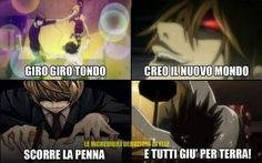 VVVVID Anime Meme, Funny Anime Pics, Manga Anime, Funny Images, Funny Pictures, Death Note Funny, Italian Memes, L Lawliet, Ereri