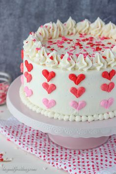 Valentine's Day Ombre Heart Cake