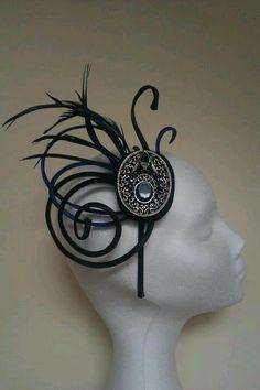 Tocadoss Fascinator Hats, Fascinators, Head Jewelry, Pamela, Wedding Hats, Head Piece, Race Day, Ascot, Peru