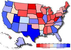 - Relative shift in US president two-party vote between 2012 and...