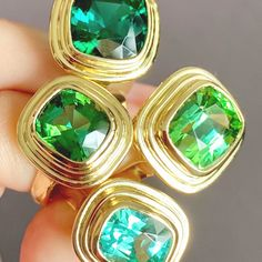 For Sale on - Striking vivid green Tourmaline set into yellow gold Tourmaline Yellow gold Ring size The latest collection from Minka is the Athena collection. Tourmaline Stone, Green Tourmaline, Jewelry Gifts, Jewelery, Jewellery Quarter, Makeup Rooms, Yellow Gold Rings, Rose Gold, Cocktail Rings