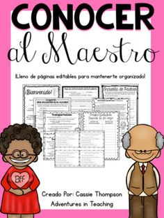 This is a Spanish version of my best selling product Meet the Teacher Forms and Handouts! Do you get a little stressed thinking about all that back to school paperwork?
