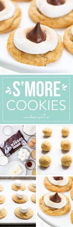 Soft and chewy S'MORE cookies ...the perfect dessert for summer!