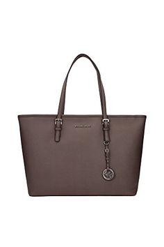041f2496ee763 30T5STVT2LCINDER-Michael-Kors-Shopper-Taschen-Damen-Leder-Grau Handtaschen