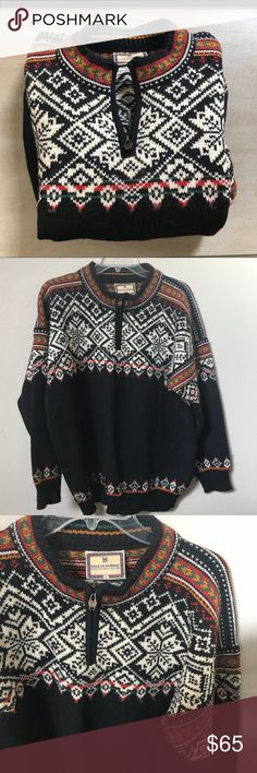 """Men's Dale of Norway vintage wool sweater US Olympic Collection 1998 Super warm sweater in good used condition.  High quality!  Minimal piling.  Measures 27"""" long and 24"""" armpit to armpit approximately Dale of Norway Sweaters Cardigan"""