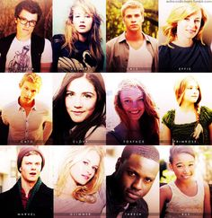 Josh Hutcherson as Peeta Mellark. Jennifer Lawrence as Katniss Everdeen. Liam Hemsworth as Gale Hawthorne. Elizabeth Banks as Effie Trinket. Alexander Ludwig as Cato. Isabelle Fuhrman as Clove. Jacqueline Emerson as Foxface. Willow Shields as Primrose Everdeen. Jack Quaid as Marvel. Leven Rambin as Glimmer. Dayo Okeniyi as Thresh. Amandla Stenberg as Rue.