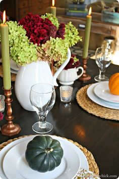 Simple autumn tablescape #fall
