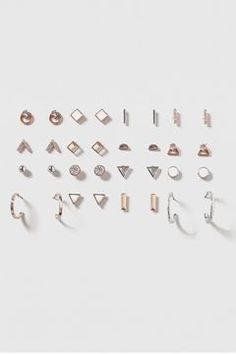 Mega Stud and Hoop Earrings Pack