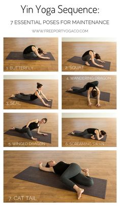 Yin Yoga Sequence: 7 essential poses for maintenance - Freeport Yoga Co-It's h. - Yin Yoga Sequence: 7 essential poses for maintenance – Freeport Yoga Co-It's hard to select onl - Vinyasa Yoga, Yoga Bewegungen, Ashtanga Yoga, Yoga Flow, Yoga Meditation, Yoga Inspiration, Yoga Fitness, Yoga Style, Yoga Nature
