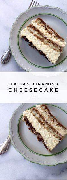 Italian Tiramisu Cheesecake Recipe | CiaoFlorentina.com @CiaoFlorentina