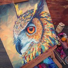 owl painting                                                                                                                                                      Mais