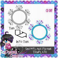 Snowflake Frame Template