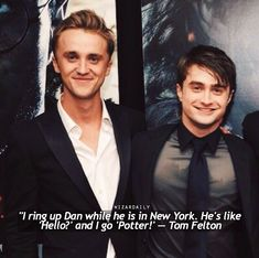 56 trendy funny harry potter cast interviews tom feltonYou can find Potter facts and more on our trendy funny harry potter cast interviews tom felton Harry Potter World, Harry Potter Puns, Mundo Harry Potter, Harry Potter Characters, Harry Potter Universal, Tom Felton Harry Potter, Harry Potter Ships, Drarry, Dramione
