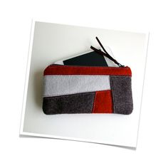 Wool Felt Coin Purse // Special Price // by LoftFullOfGoodies,