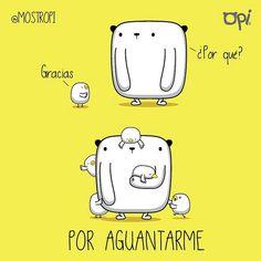Gracias por aguantarme... #opi #kipi #cute #kawaii #mostropi #ilustración   por OSCAR OSPINA STUDIO