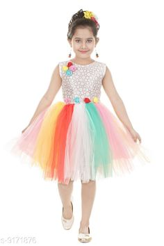 Frocks & Dresses TrendyCreations Girls Midi/Knee Length Fit and Flare Multicolor Festive/Wedding Dress Fabric: Net Sleeve Length: Sleeveless Multipack: Single Sizes: 18-24 Months (Bust Size: 24 in Length Size: 21 in) Country of Origin: India Sizes Available: 2-3 Years, 3-4 Years, 4-5 Years, 5-6 Years, 6-7 Years, 7-8 Years, 18-24 Months   Catalog Rating: ★4.1 (480)  Catalog Name: Princess Classy Girls Frocks & Dresses CatalogID_1593015 C62-SC1141 Code: 334-9171876-9901