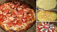 Cuketová pizza s mozzarelou bez mouky | NejRecept.cz Keto Recipes, Cooking Recipes, Healthy Recipes, Healthy Meals, A Food, Food And Drink, Hawaiian Pizza, Pepperoni, Lchf