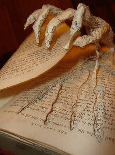 book art, read between the lines