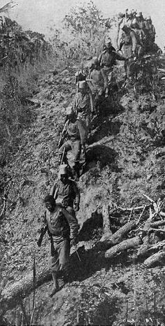 Belgian Congo troops on the march