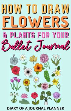 Doodle like a pro with this ultimate guide to doodling flowers and plants in a bullet journal! #doodling #flowerdoodle #plantdoodle Easy Flower Drawings, Flower Drawing Tutorials, Drawing Flowers, Bujo Doodles, Love Doodles, Simple Doodles, Creating A Bullet Journal, Bullet Journal Themes, Bullet Journal Layout