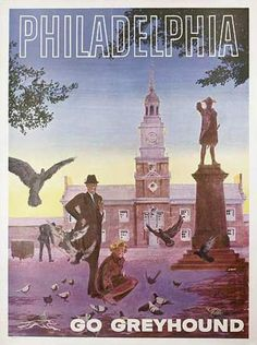 vintage philadelphia travel posters - Google Search