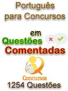 Questoes Comentadas de Portugues para Concursos. Veja em detalhes no site http://www.mpsnet.net/G/641.html via @mpsnet Material essencial para concursos em geral e provas da OAB. Veja em detalhes neste site