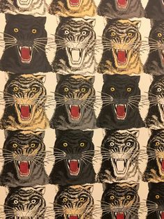 tiger art - Gucci Décor at Bergdorf's Tiger Art, Animal Art, Print Wallpaper, Tiger Wallpaper, Illustration Art, Art, Printing On Fabric, Tiger Illustration, Prints