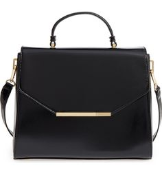 Main Image - Ted Baker London Large Faux Leather Top Handle Satchel