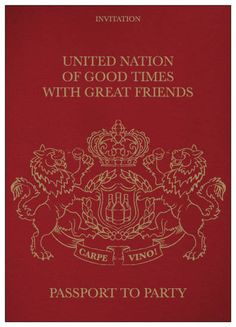 Birthday Party Invitations Passport