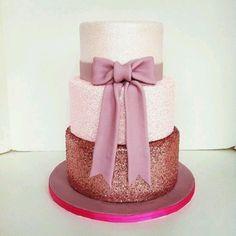 Bridal shower glitter cake? YES PLEASE!