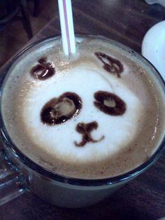 Panda Coffee Latte Foam Art