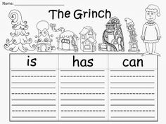 Free: Grinch Graphic Organizers (based on the story by Dr. Seuss).  For Educational Purposes Only...Not For Profit. Enjoy! Regina Davis aka Queen Chaos at Fairy Tales And Fiction By 2.