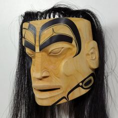 """""""Stepping out of Darkness"""" Mask by John P. Wilson, Haisla artist (X110703)"""