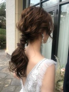 Party Hairstyles, Bride Hairstyles, Evening Hairstyles, I Like Your Hair, My Hair, Korean Wedding Hair, Updo Styles, Hair Styles, Hair Arrange