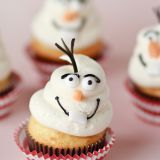 Olaf needed to be a cupcake. These guys are SO simple to make, but not as easy to eat. They are way too cute!