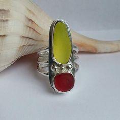 Custom sea glass ring from artisanseaglassjewelry.com