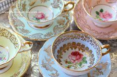 Vintage English Fine Bone China Tea Set Duos