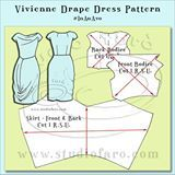 Hate being caught wearing the same dress as someone else at a party? Learn how to design and cut your very own unique dress with Studio Faro   Book now: https://weteachme.com/studiofaro/1011971-vivienne-drape-dress-pattern-make-it-in-an-afternoon #drapedress #wtm_studiofaro #patternmaking