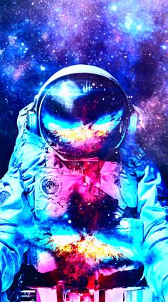 Outer Space Wallpaper, Galaxy Wallpaper, Wallpaper Backgrounds, Wallpapers, Space Artwork, Space Painting, Astronaut Wallpaper, Astronauts In Space, Story Instagram