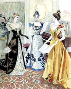 Items similar to 1890 s Colour Fashion Plate 14 Blank Note Card Handmade on  Etsy 9000e579f