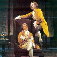 """Tim como Mozart en """"Amadeus"""" de Broadway."""