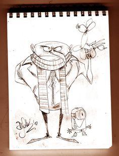 Despicable Me Sketch by Themrock.deviantart.com on @deviantART