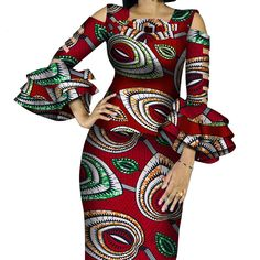 African Print Ruffles Sleeve Tops and Skirt Sets Knee-length clothing – DRESS THE LADIES Couples African Outfits, African Dresses For Women, African Attire, African Fashion Dresses, Fashion Outfits, African Traditional Wear, Traditional Outfits, African Wear Designs, 2 Piece Skirt Set