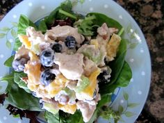 chicken salad with blueberries
