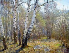 Ярослав Зяблов Watercolor Landscape, Landscape Art, Landscape Paintings, Russian Painting, Russian Art, Forest Photography, Spring Landscape, Galaxy Painting, Autumn Painting