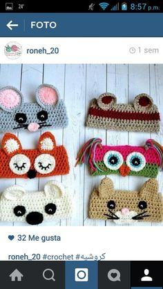 Crochet Animal Ear Warmers pattern by Christins from My Sweet Potato 3 -all sizes Crochet Mouse, Cute Crochet, Crochet For Kids, Crochet Crafts, Yarn Crafts, Crochet Baby, Knit Crochet, Crochet Beanie, Crochet Teddy